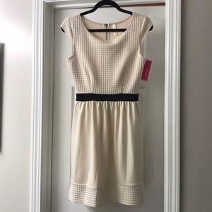 NWT. White/cream a-line xhileration dress